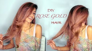 Luxurious Rose Gold Hair! 🤩 - DIY TUTORIAL | ARIBA PERVAIZ