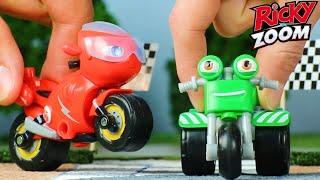 Ricky Zoom Deutsch ⚡ Rickys schnellstes Rennen? ⚡ Motorräder für Kinder   Spielzeug für Kinder