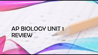 AP Biology Unit 1 Review Chemistry Of Life