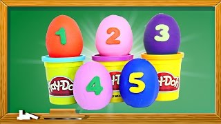 Learning Numbers & Counting with Play Doh Surprise Eggs Fun Bucket ★ Preschool DCTC Kid Videos