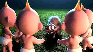 "INCREDIBLES 2 ""Jack Jack Army Fights Raccoon"" FULL Movie Clip (Animation, 2018)"