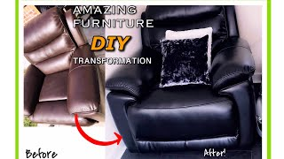 CHANGE COLOR OF LEATHER SOFA/FURNITURE THE PROFESSIONAL WAY | EASY METHOD.