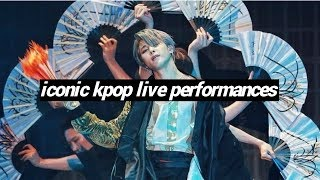 iconic kpop live performances