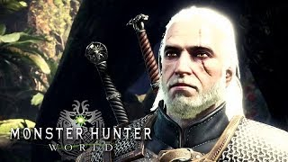 Monster Hunter: World (The Witcher 3 Event) – All Cutscenes (Game Movie) 1080p HD