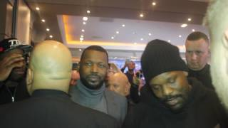 CHISORA CONFRONT'S WHYTES BROTHER .