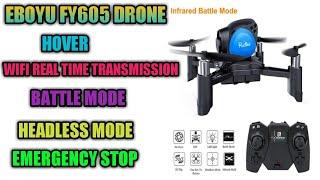 Eboyu fy605 drone | folding drone with camera | eboyu fy605 720p micro fpv drone
