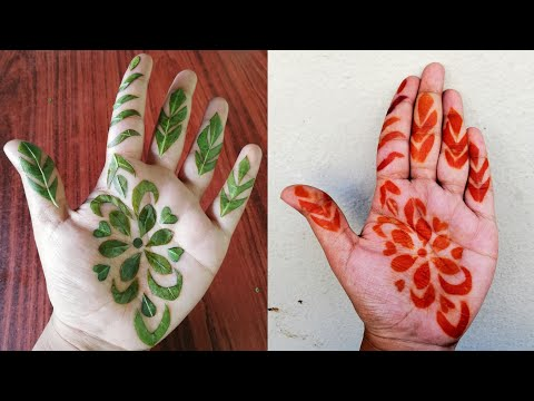Download Lagu Simple Henna Easy Leaves Design Mp3 Video Mp4 3gp