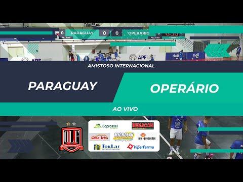 Seleção do Paraguai 00 x 00 Operário Laranjeiras Amistoso Internacional