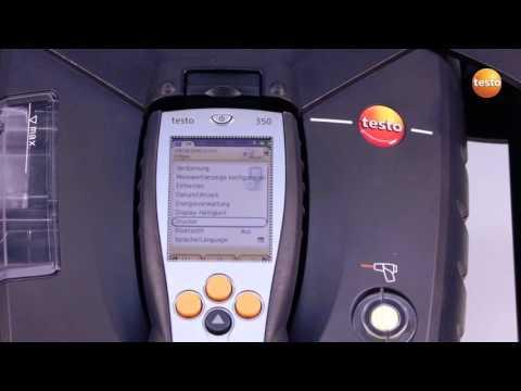 Das Messgeraet starten testo 350 Videoanleitung