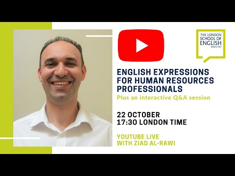 English Vocabulary and Expressions For Human Resources ...