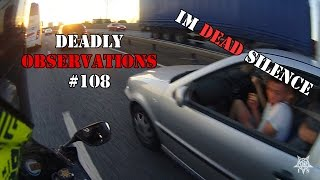 Deadly Observations #108 - Eating While Driving & Scooter Nearly Takes Out Motorcyclist