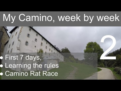 No. 34.  My Camino, Week By Week. Week 1 - Learning The Rules & Camino Rat Race.