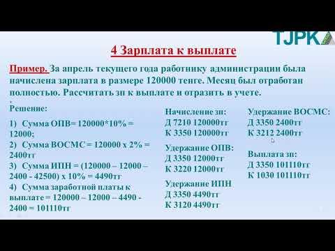 Архипова А. С.  Финансовый учет.  Удержания из зарплаты 4.  ЗП к выплате.  Прочие удержания.