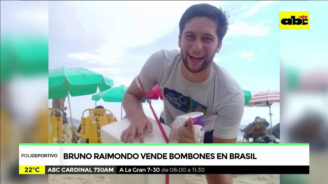 Bruno Raimondo vende bombones en Brasil