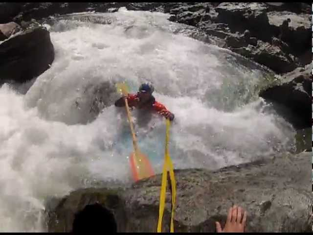Class 5 kayak pin and Rescue on Burnt Ranch Gorge