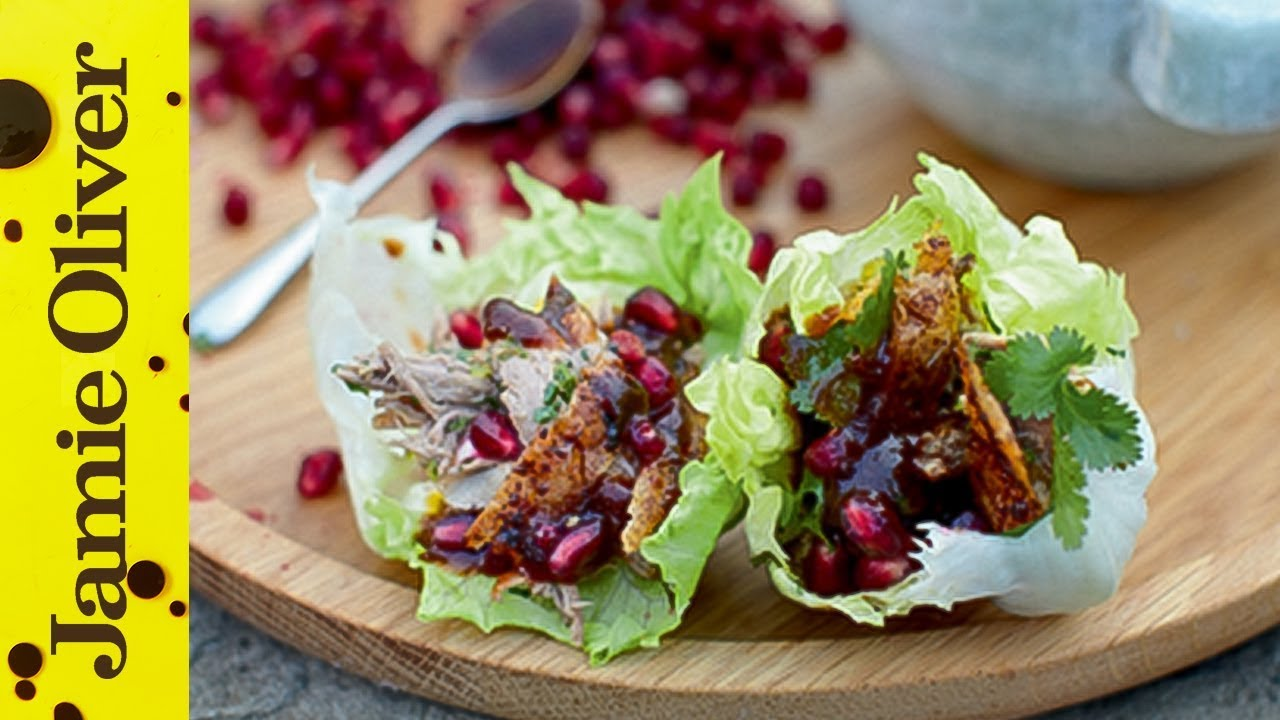 Dinner Party Ideas Jamie Oliver Part - 16: Crispy Roast Duck Wraps