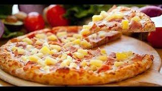 Быстрая пицца с ананасами - гавайская