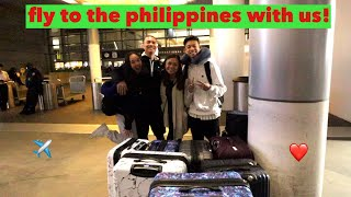 (PHILIPPINES) FLY TO THE PH WITH US! Vlogmas Day 22   Nicole Laeno
