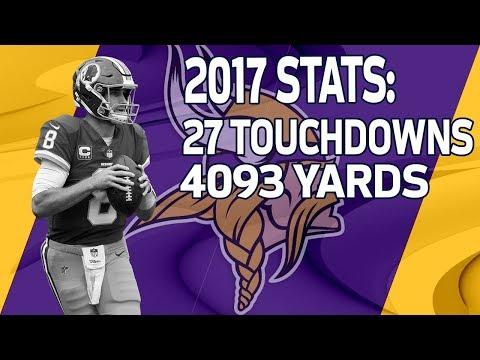 New Vikings QB Kirk Cousins 2017 Season Highlights   NFL
