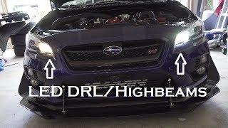 LED DRLs   Highbeams   Auxbeam   2017 Subaru WRX STI