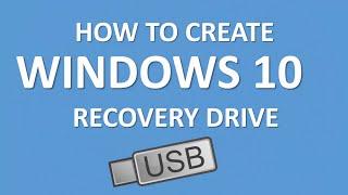 How to Create Windows 10 Recovery Drive USB   Microsoft Windows 10 Tutorial