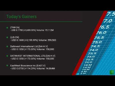 InvestorChannel's Canadian Stock Market Update for Thursda ... Thumbnail