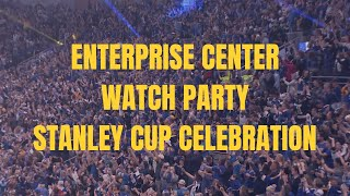 Inside Enterprise Center for the moment the Blues won the Stanley Cup