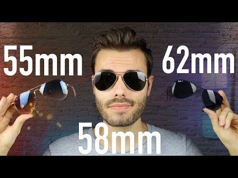 Ray-Ban Aviator Size Comparison RB3025 55mm vs 58mm vs 62mm