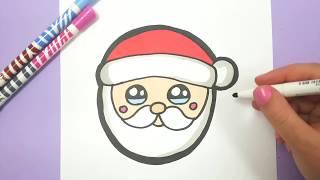 Как нарисовать лицо Деда Мороза поэтапно. 8 уроков