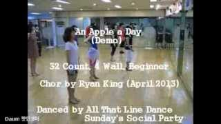 An Apple a Day - Line Dance (Demo & Walk Through)