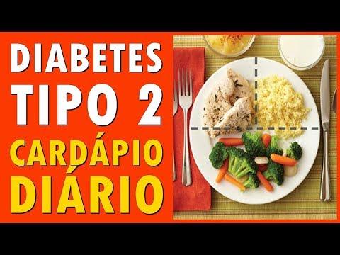 Exemplo de menu para um tipo de diabetes 1