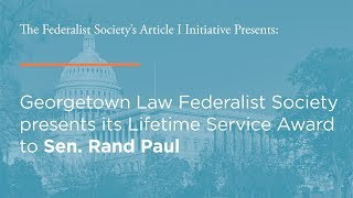 Click to play: Georgetown Law Federalist Society's Lifetime Service Award