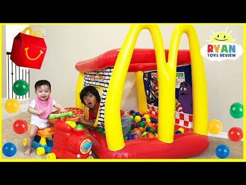 McDonald's Drive Thru Inflatable giant ball pits and giant food + McDonald's Indoor Playground
