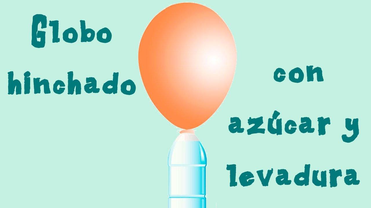 Inflar un globo con azúcar y levadura. Ciencia para niños