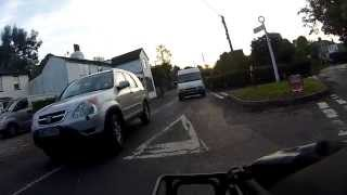 preview picture of video 'AX03HXE - Driver MGIF? Dangerous attempt to overtake.'