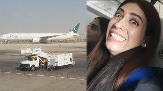 First Flight Of My Life | Lahore to Karachi Flight | Life With Amna