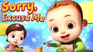 Sorry & Excuse Me Song | Learning Songs | Baby Ronnie Songs | 3D Rhymes | Nursery Rhymes Kids Songs