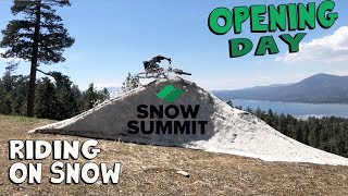 SNOPENING DAY! Snow Summit Bike Park 2019