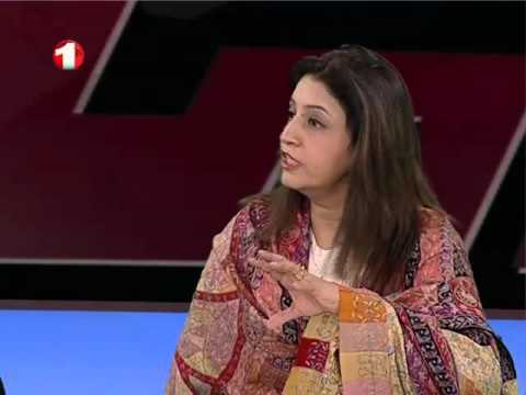 Dr. Huma Baqai on Afghan TV channel when she was in Kabul.