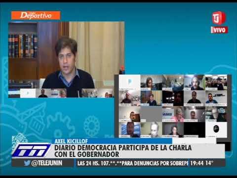 Kicillof es entrevistado por Democracia