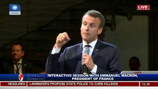 Nigerians Interact With French President, Macron Pt.5|Live Event|