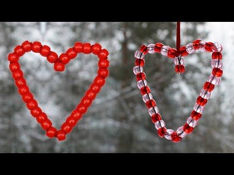 Coeur avec des perles pour la St-Valentin