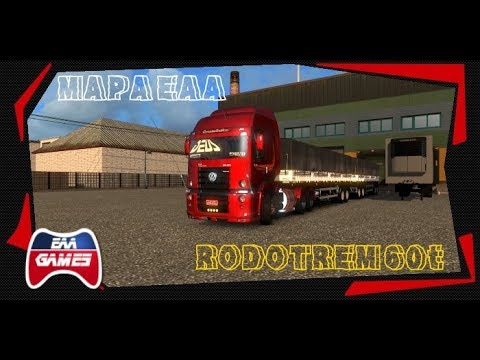 MAPA EAA - DE ALVORADA DO NORTE PARA BRASILIA - RODOTREM 60t - ETS2