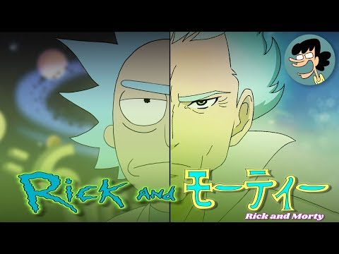 IF RICK AND MORTY WAS AN ANIME