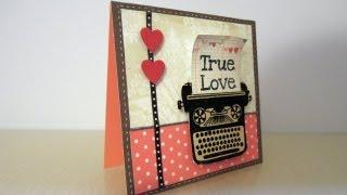 Tarjeta para San Valentín. Tutorial Scrapbook