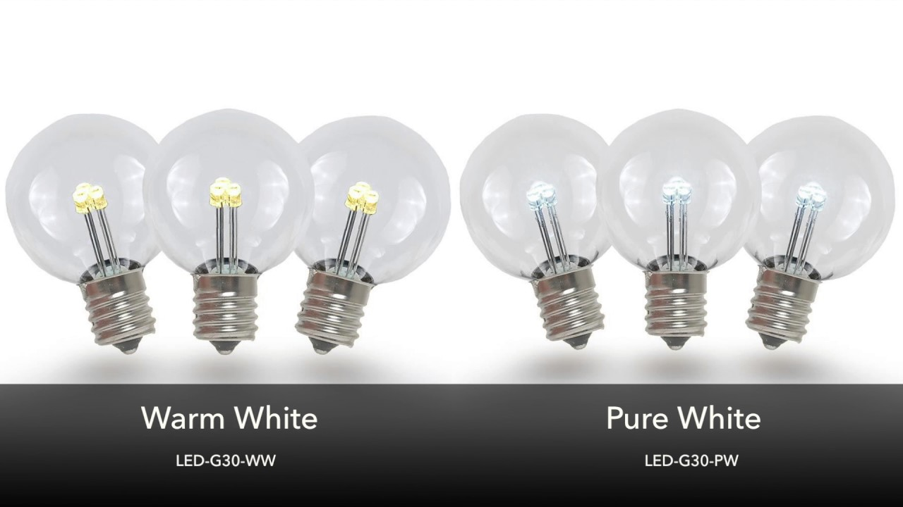Picture of Warm White - G30 Glass LED Replacement Bulbs - 25 Pack