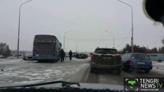 ДТП с автобусом произошло в Караганде