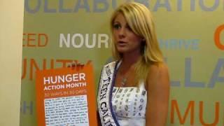 Dedria Brunett - Miss Teen California Intl 2010 - National office for Feeding America - Chicago