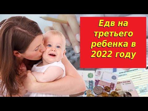 Едв на третьего ребенка в 2022 году. Кому положены,их размер и расчет. Выплаты на детей в 2022 году.