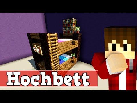 Wie Baut Man Ein Hochbett In Minecraft Minecraft Hochbett Bauen Deutsch - Minecraft haus bauen deutsch